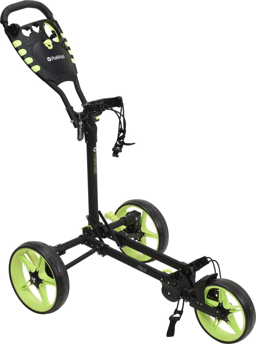 Fastfold - Flat golftrolley - zwart/neon geel kopen
