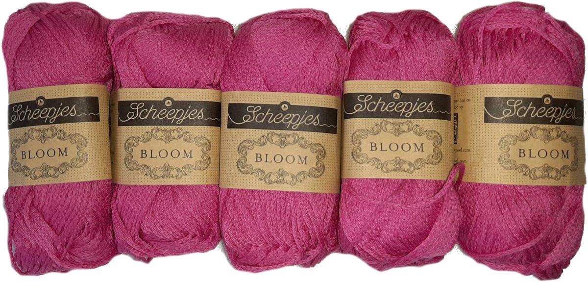 Afbeelding van product Scheepjes BLOOM Kleur 407 Fuchsia pakket 5 x 50 gr = 5 bollen DUURZAAM