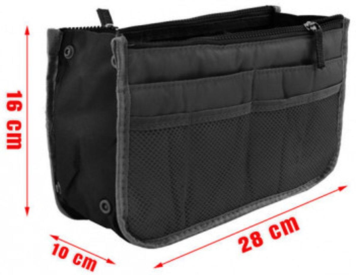 73a391dfb20 bol.com | Handtas organiser - Netjes en geordend - Bag in Bag - 28x9x16.5  cm - Zwart