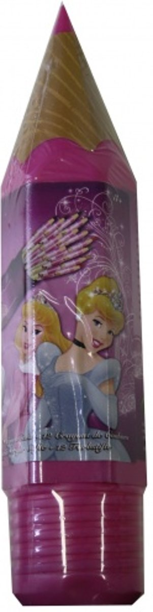 Disney Groot potlood gevuld met 12 kleurtjes princess roze kopen