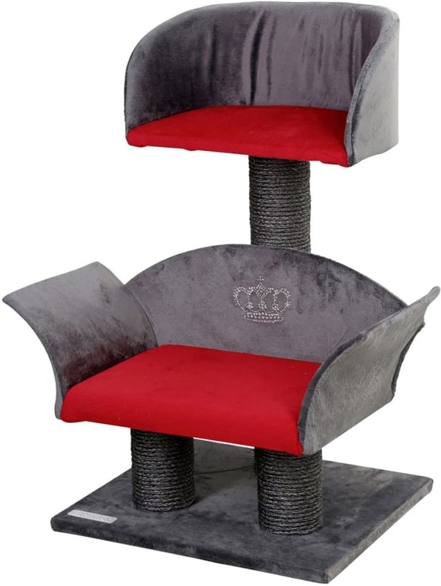 Krabpaal Lounge Deluxegrijs/rood, hoogte: 70 cm