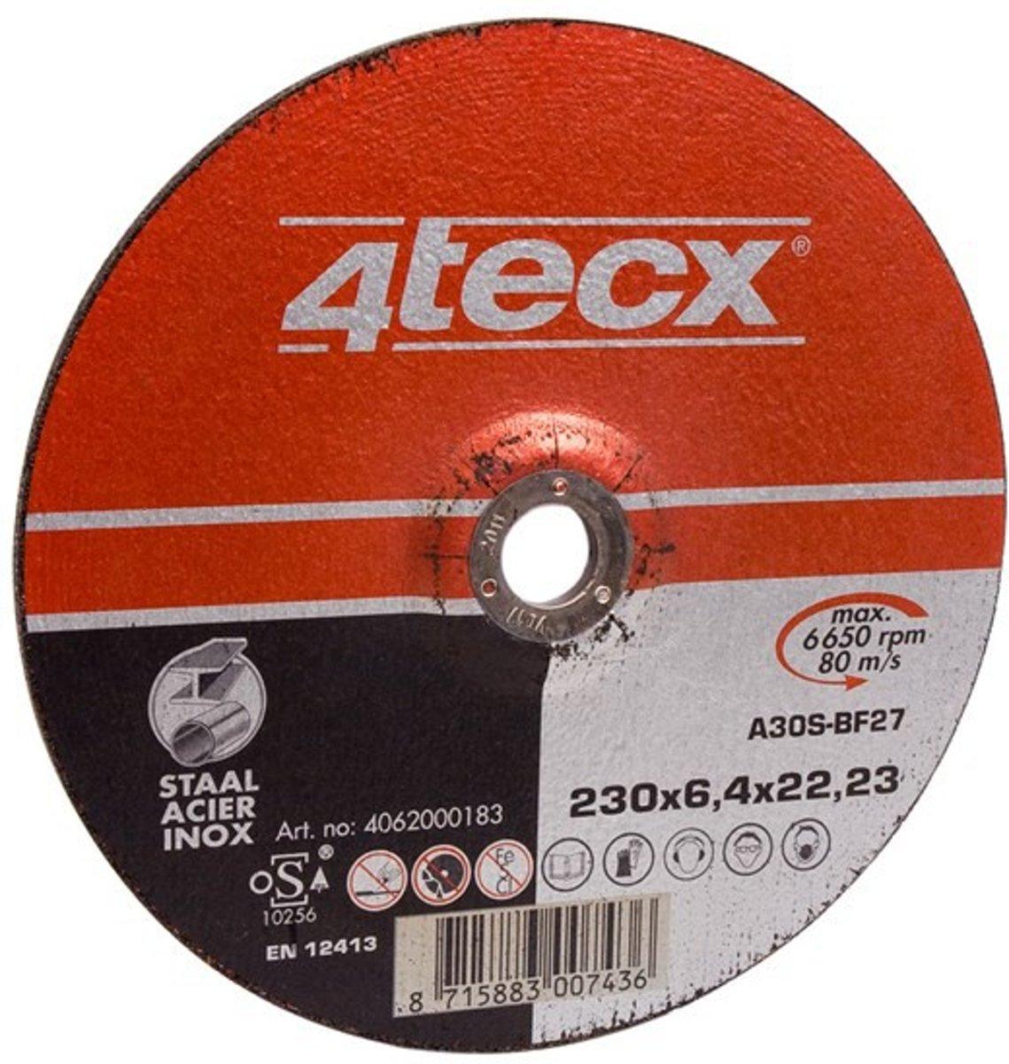4Tecx Afbraamschijf 180x6,4 Vlak Staal kopen