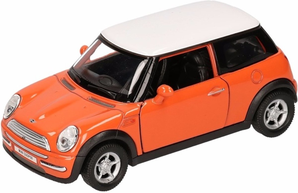 Speelgoed modelauto oranje Mini Cooper auto 11 cm