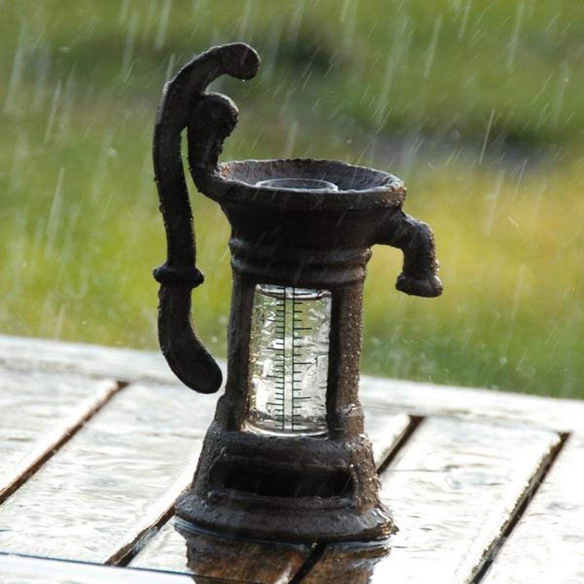 Regenmeter - pluviometer waterpomp - set van 3 stuks kopen