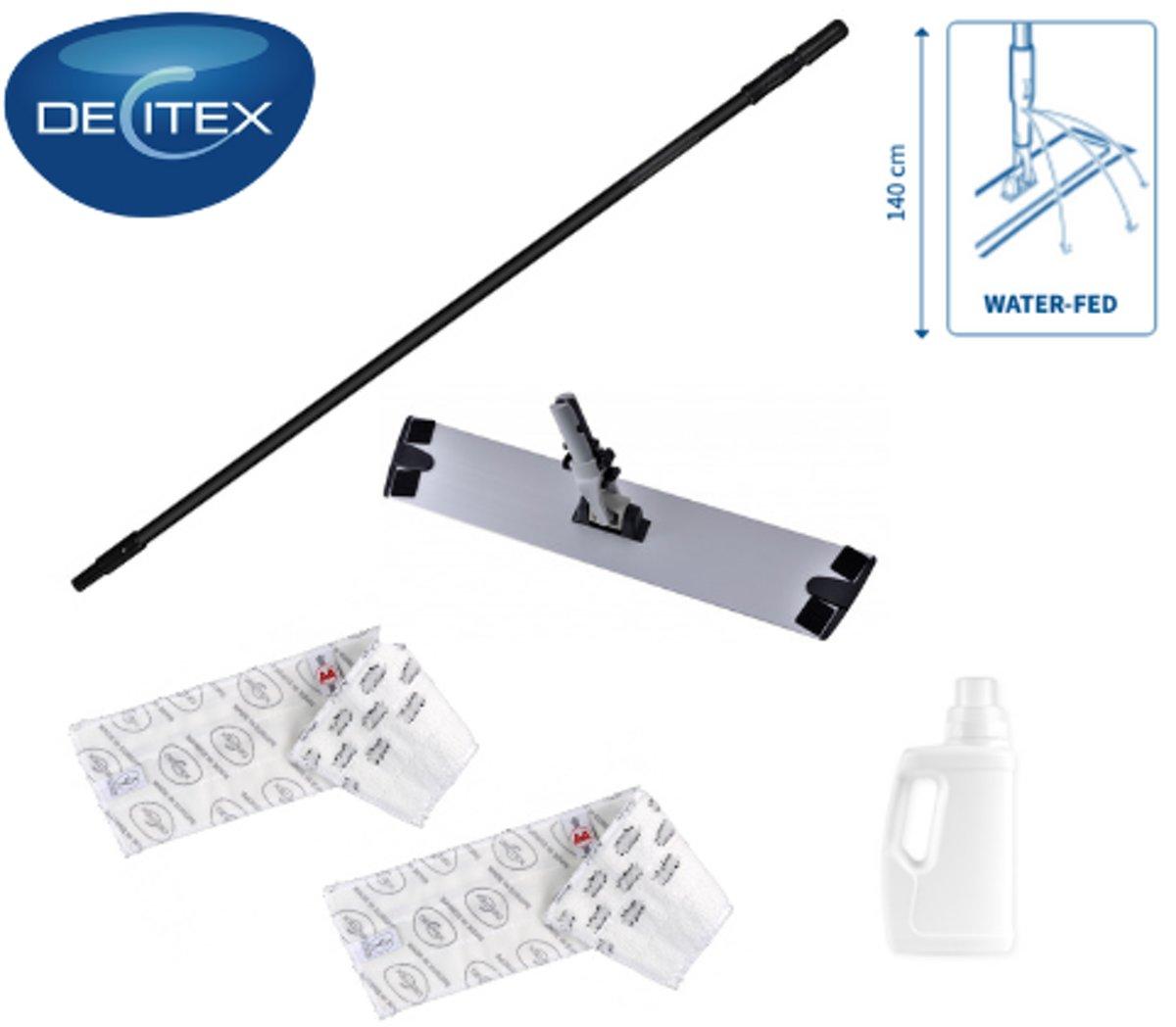 Decitex Professionele Dweilset - Zwart - Microvezel kopen