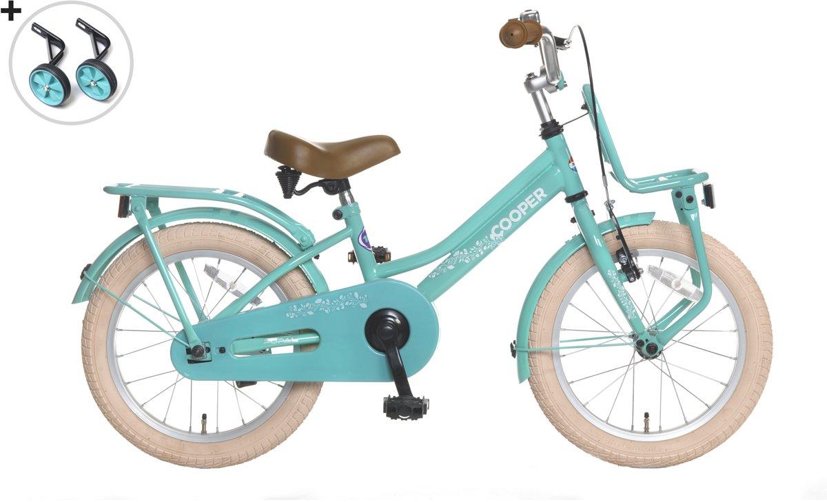 Popal Cooper Kinderfiets - Meisjes - 16 inch - Turquoise