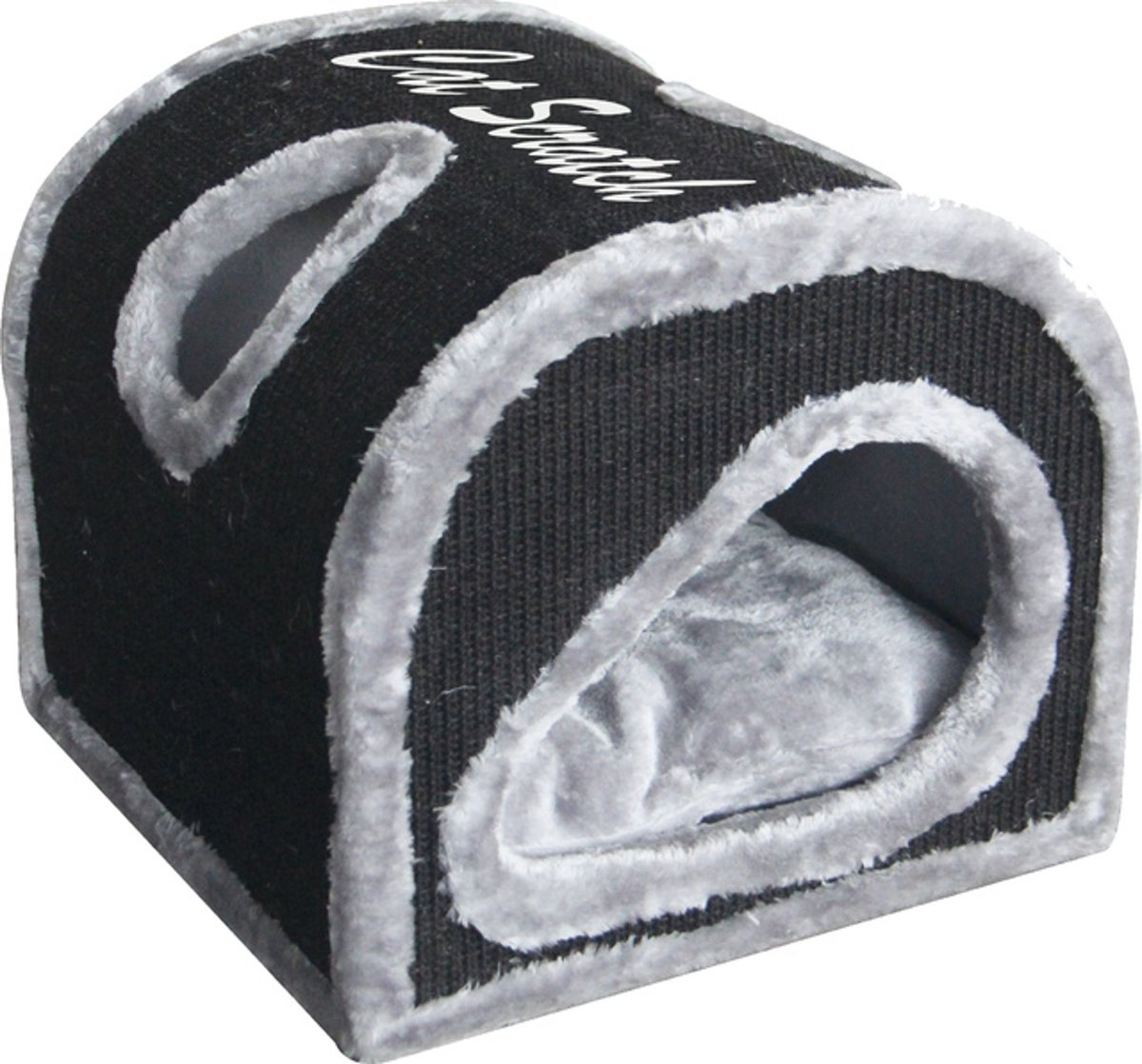 Katten Krabhuis Krabpaal 'Cocoon' 40x40cm, grijs/zwart.