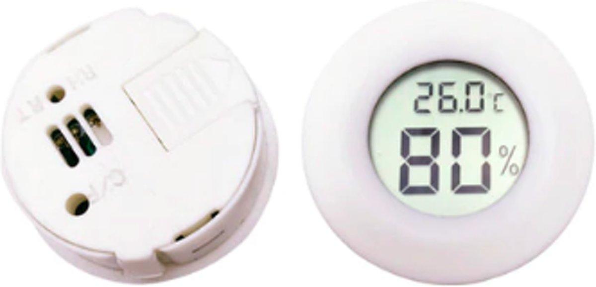 Thermometer / hygrometer / vochtigheidsmeter baby - batterij inclusief - voor in de babykamer - wit