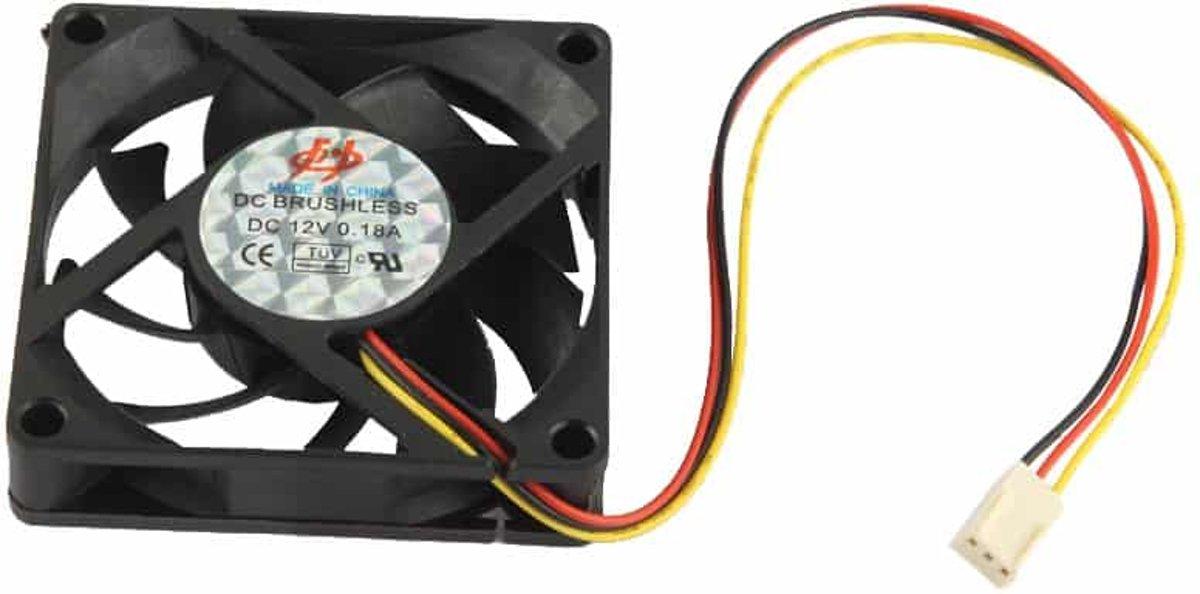 Hoge snelheid 7cm 3-pins koelventilator (zwart) kopen
