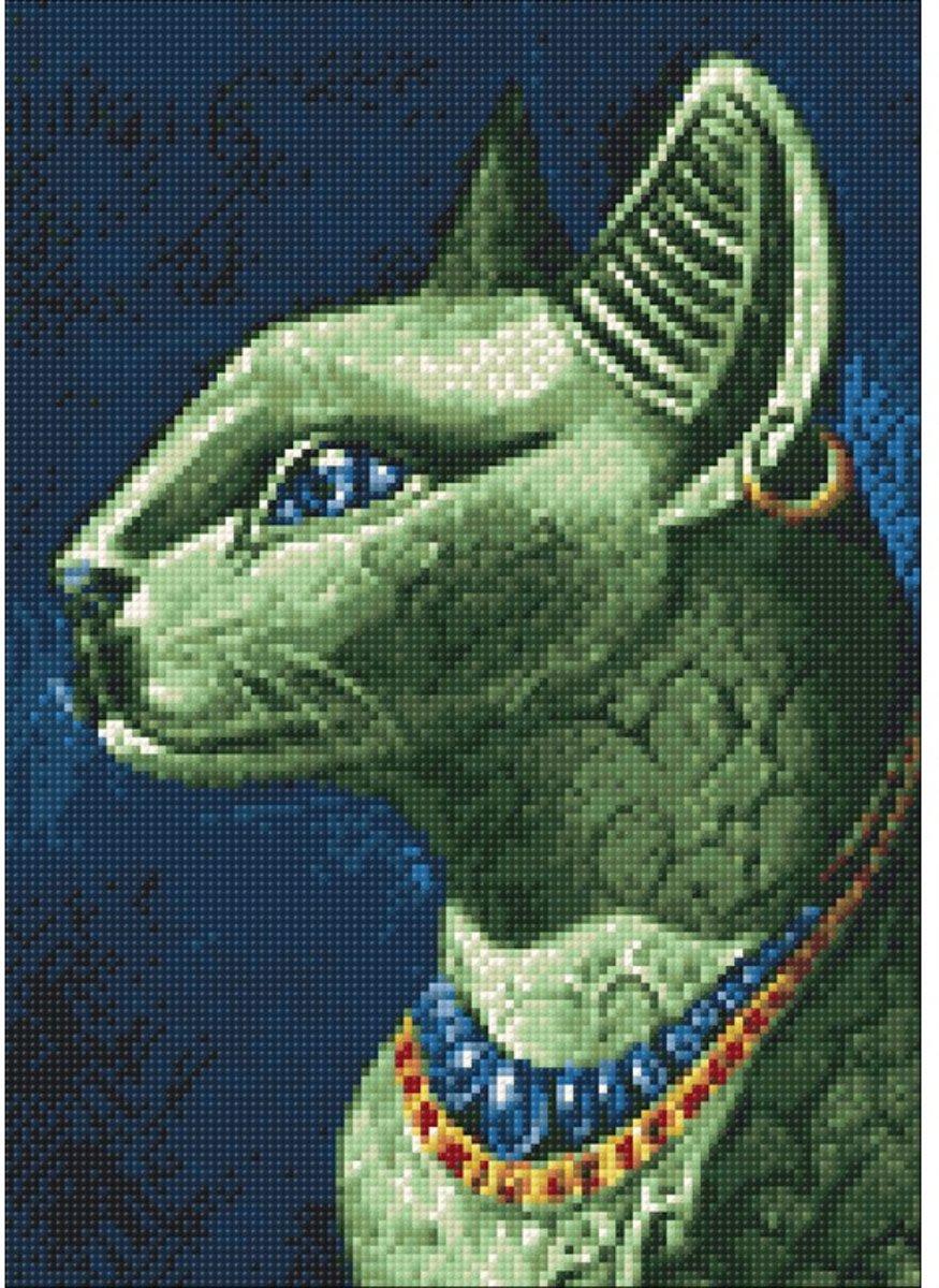 Afbeelding van product Wizardi Diamond Painting Kit Emerald Cat WD141