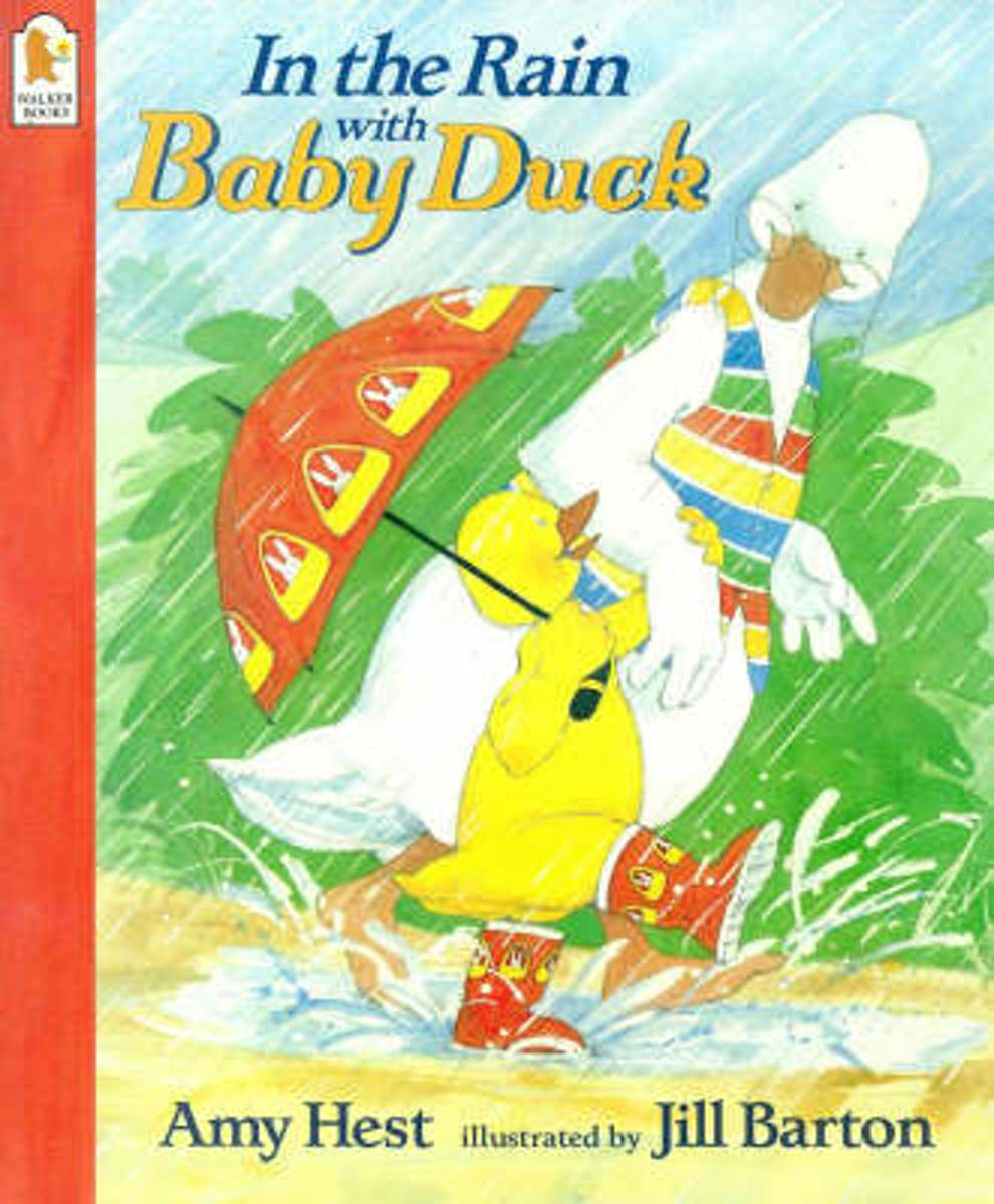Afbeelding van product In The Rain With Baby Duck  - Amy Hest