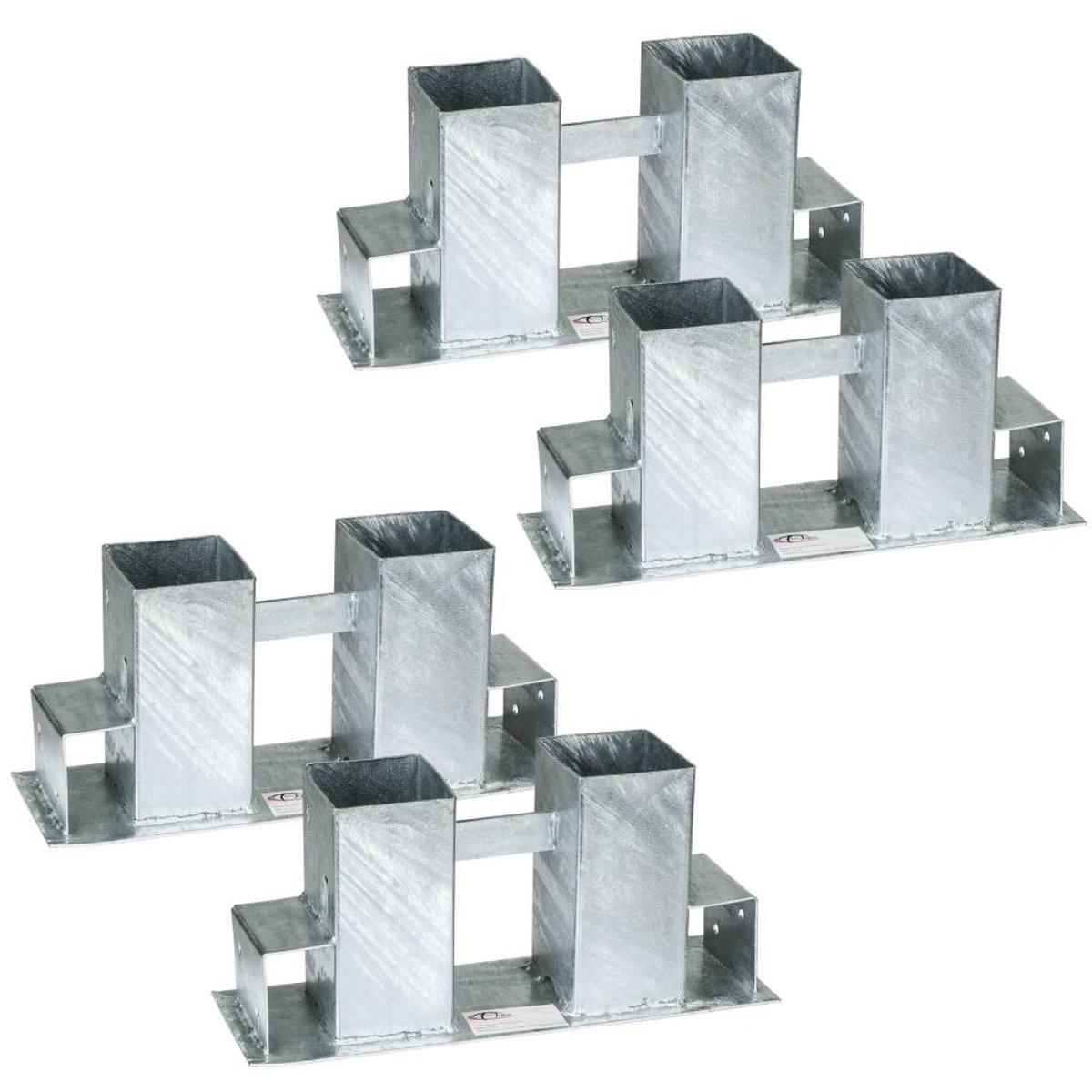 TecTake - Houtstapelrekken thermisch verzinkt 4-delig 402521 kopen