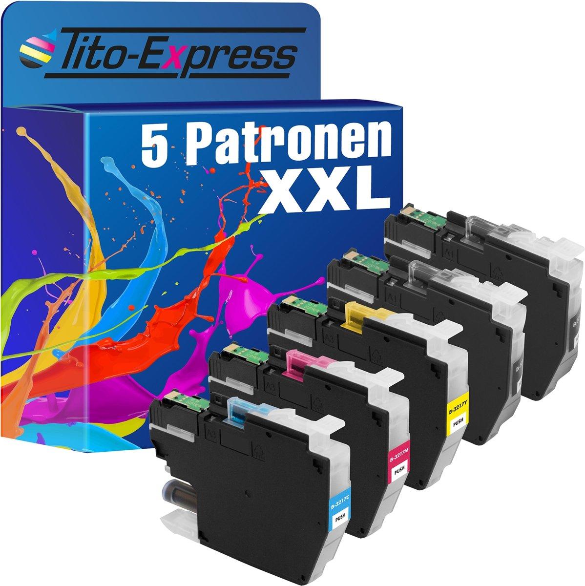 Tito-Express PlatinumSerie 5 x Cartridges XXL Alternatief voor de Brother LC-3217 XL kopen