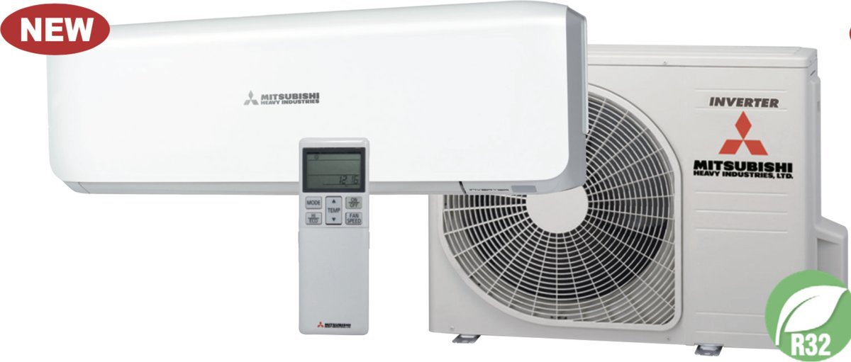 Mitsubishi Heavy Airco SRK/SRC 25 ZS-S 2,5KW - Split Unit airco systeem voor in huis   Koelen en verwarmen   Inverter model kopen