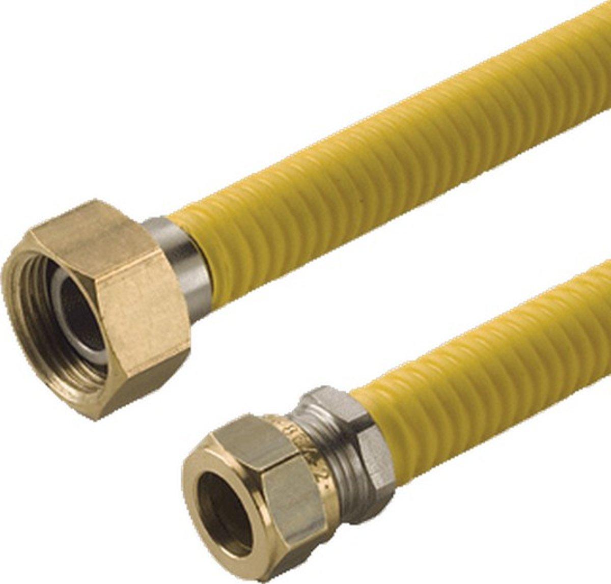 RAM gasslang Ketelflex, 3/4''x15mm, le 0.5m, slang RVS, wartelmoer kopen