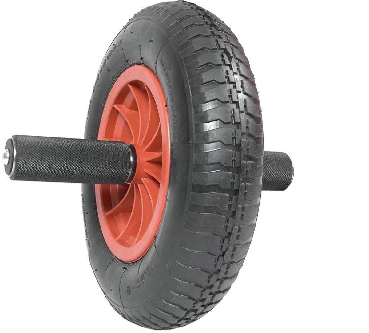 Heavy abwheel - ab roller - rood-zwart - 150 kg belastbaar kopen