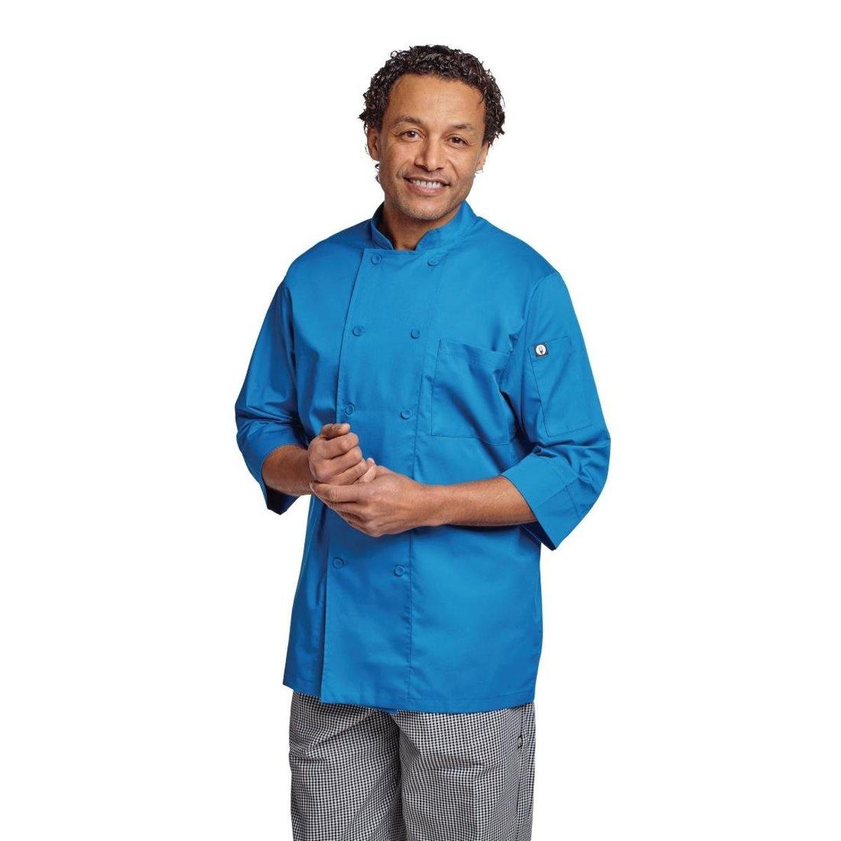 Chef Works lite koksbuis blauw. Maat S. kopen