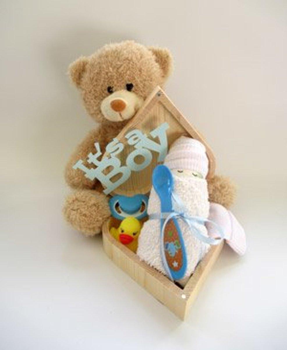 Beertje/harten doosje blauw kopen