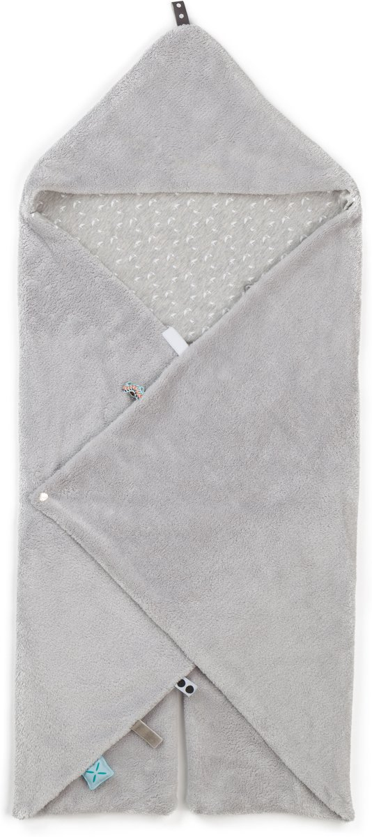Snoozebaby Wikkeldeken Trendy Wrapping (80x80cm) grijs