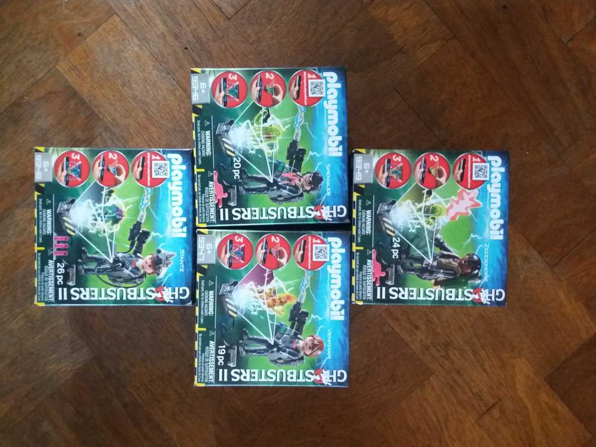set van 4 x PLAYMOBIL Ghostbuster