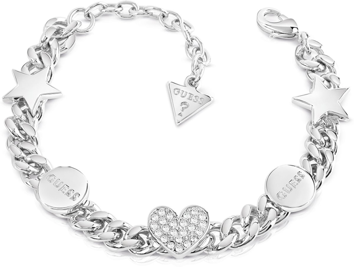 GUESS Jewellery Armband LOVE CHAIN Dames Zilverkleurig 18,41 cm