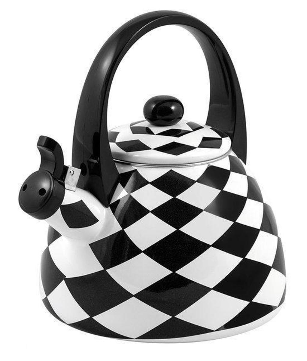 Kuppels Fluitketel Zwart-wit Geblokt  2l kopen