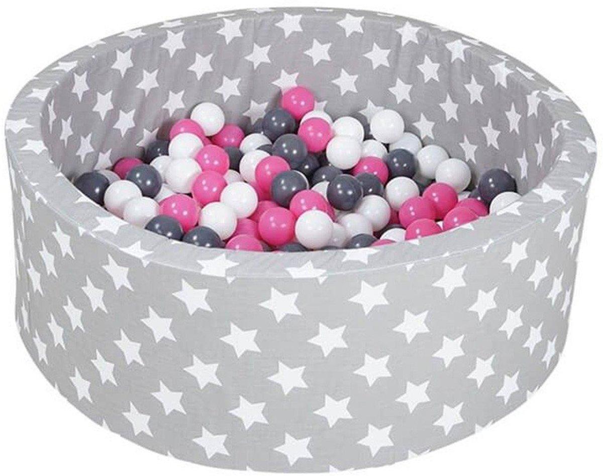 KnorrToys Ballenbad Soft Grijs-Roze