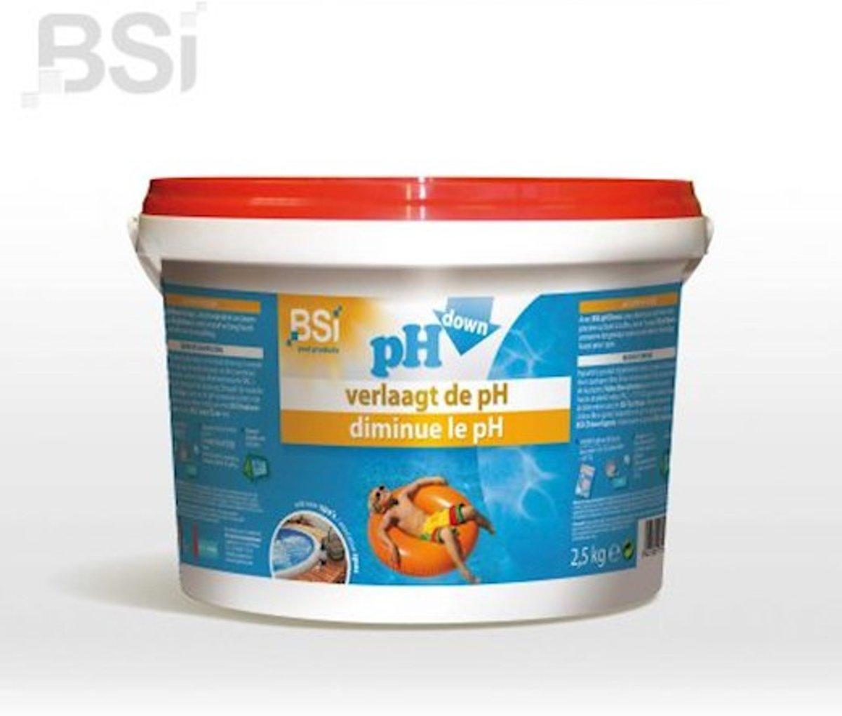 pH down poeder 2,5 kg - verlaagt de pH-waarde in uw zwembad of spa