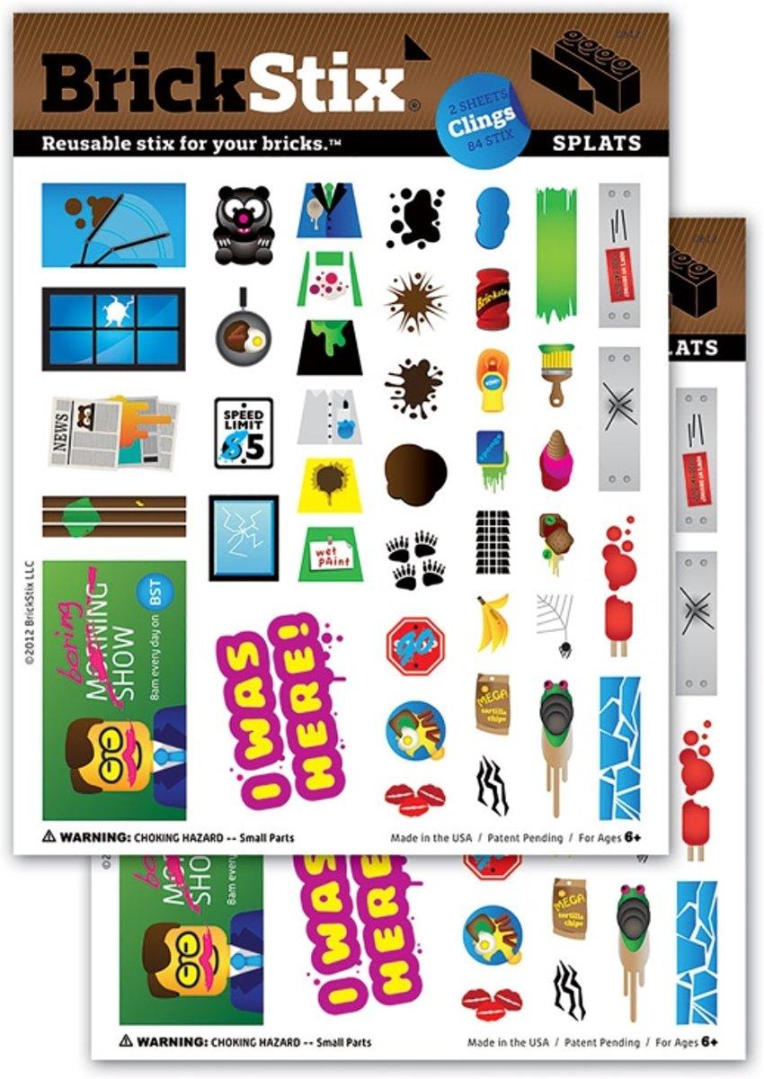 BrickStix 999108 Uitroepen - herbruikbare stickers voor bouwstenen