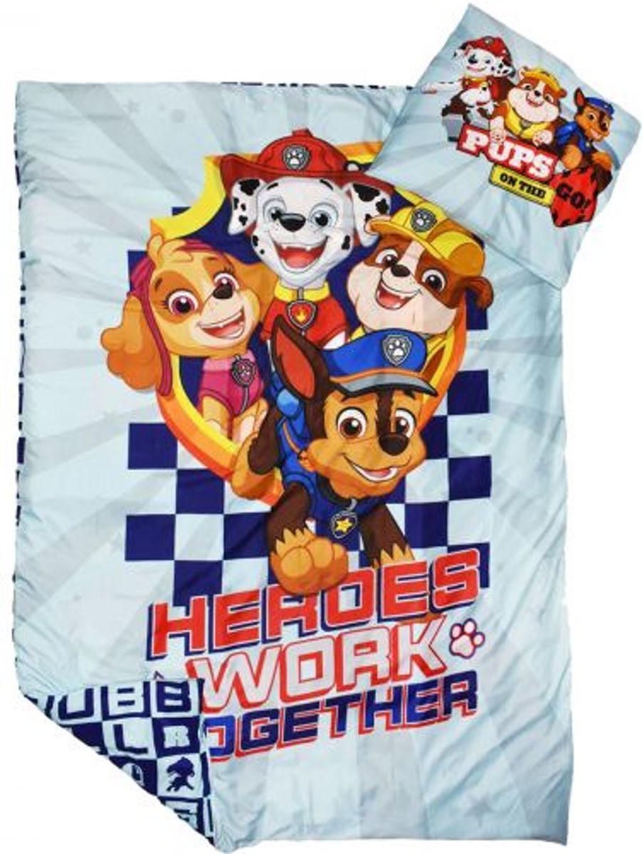 Paw Patrol éénpersoons dekbedovertrek - Heroes work together - 140 x 200 cm kopen