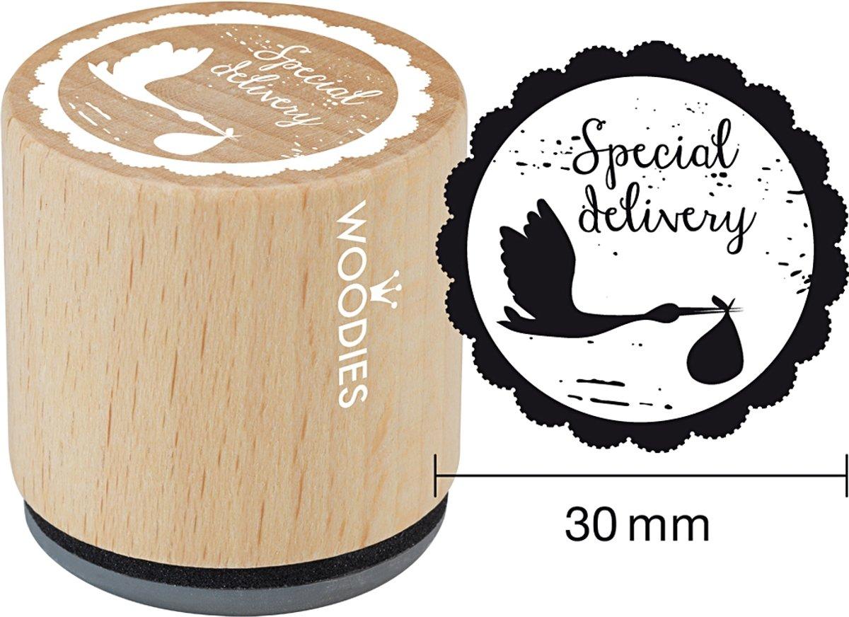 Afbeelding van product Houten stempel, d: 30 mm, h: 35 mm, Special delivery , 1stuk