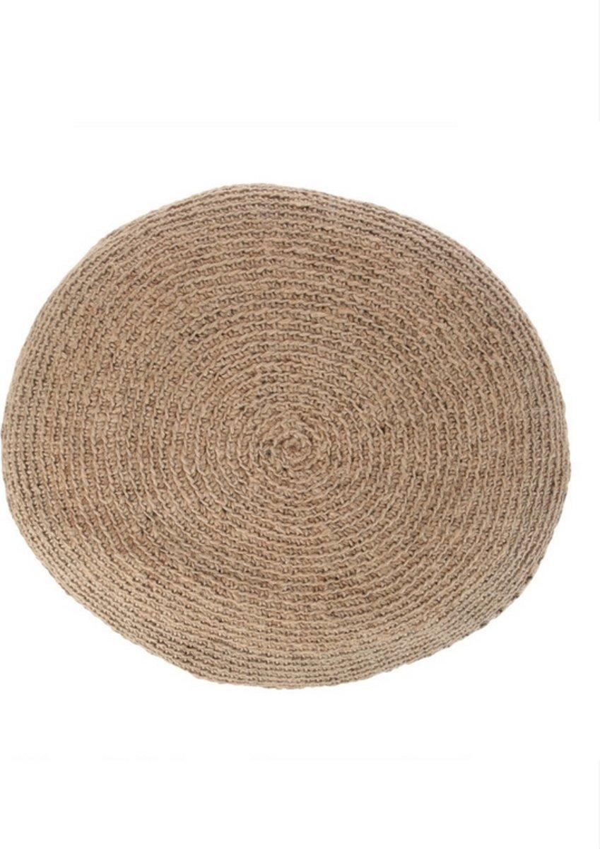 Genoeg bol.com | Yoshiko - Sittwe - grote ronde poef 80cm - naturel - jute &FP57