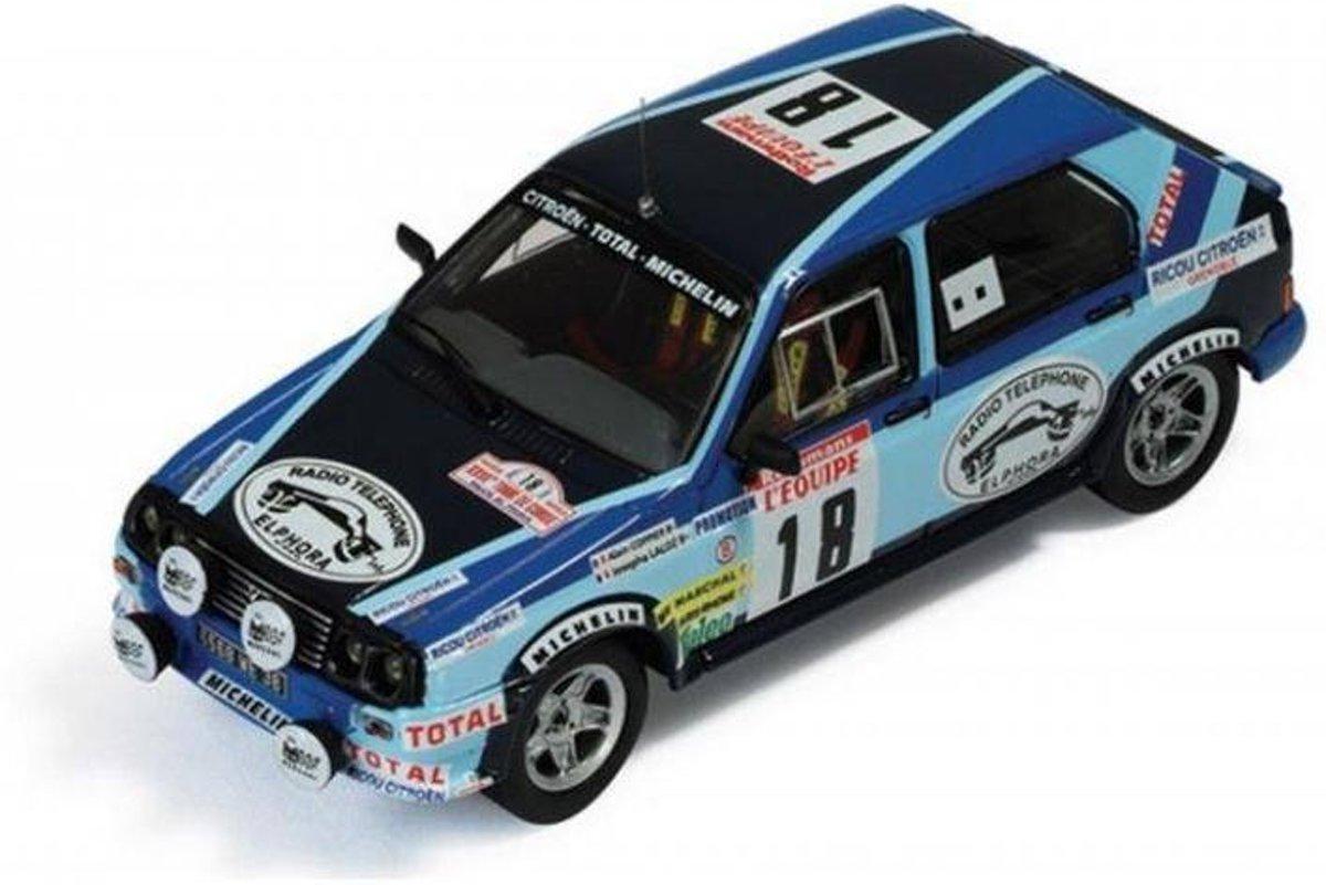 Citroen VISA CHRONO #18 Tour de Corse 1983 1:43 IXO Models Blauw RAC127