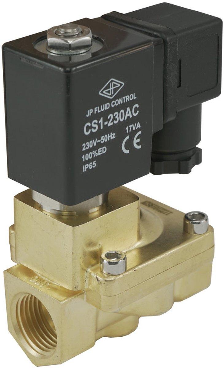 Magneetventiel ST-IA 3/8'' messing FKM 0.5-16bar 12V DC kopen