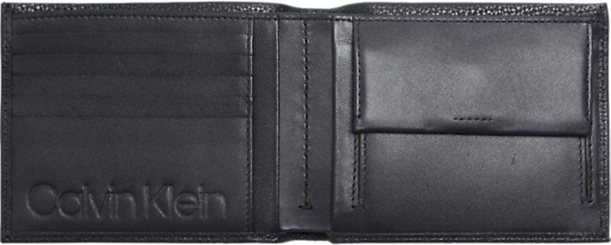 c0a1dcc6efb bol.com | Calvin Klein - Essential leather - 5CC coin - heren portemonnee -  navy