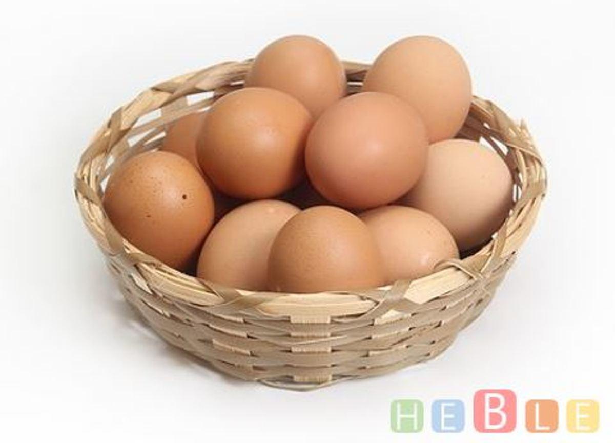 Nep kippen eieren - kunst ei - kalk ei - rubber ei - bruin - Heble