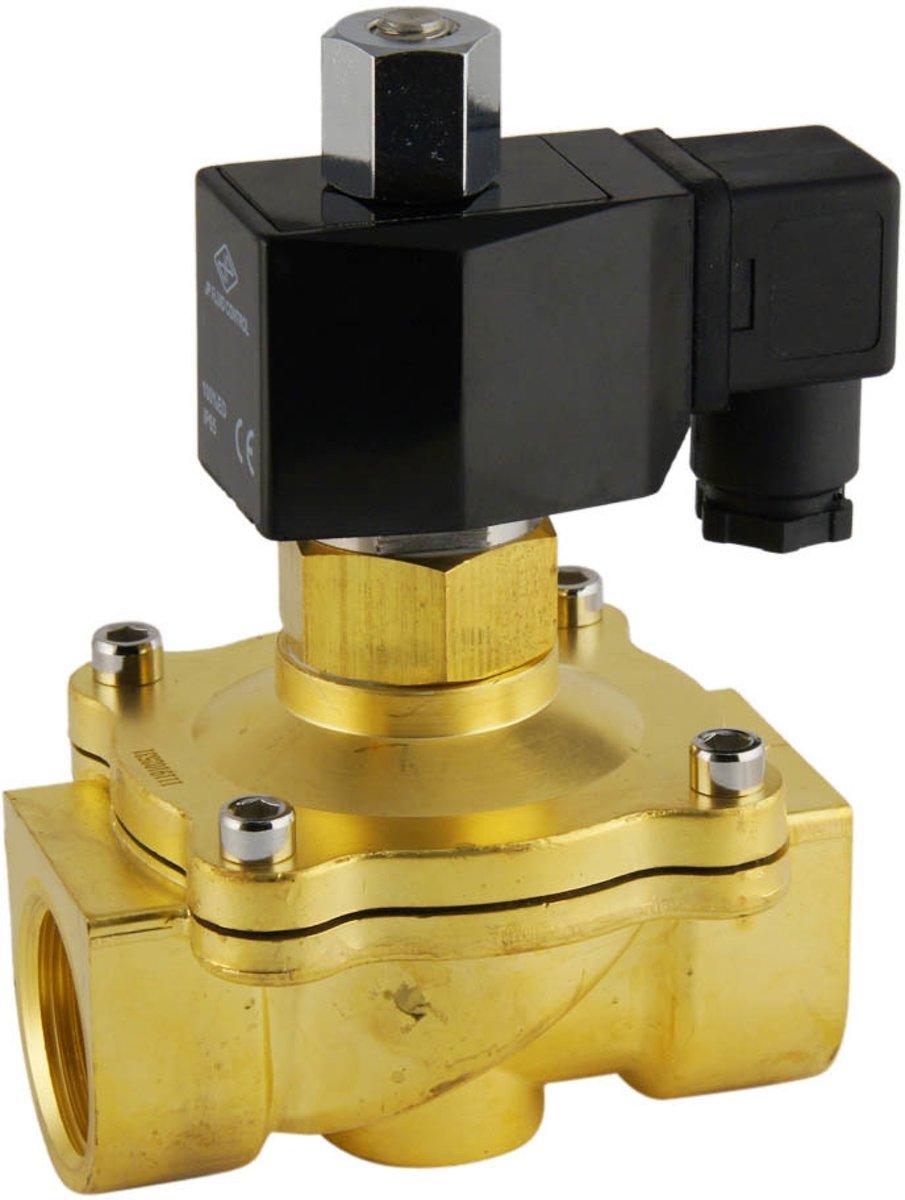 Magneetventiel DF-SB 1'' NO messing EPDM 0-5bar 230V AC kopen