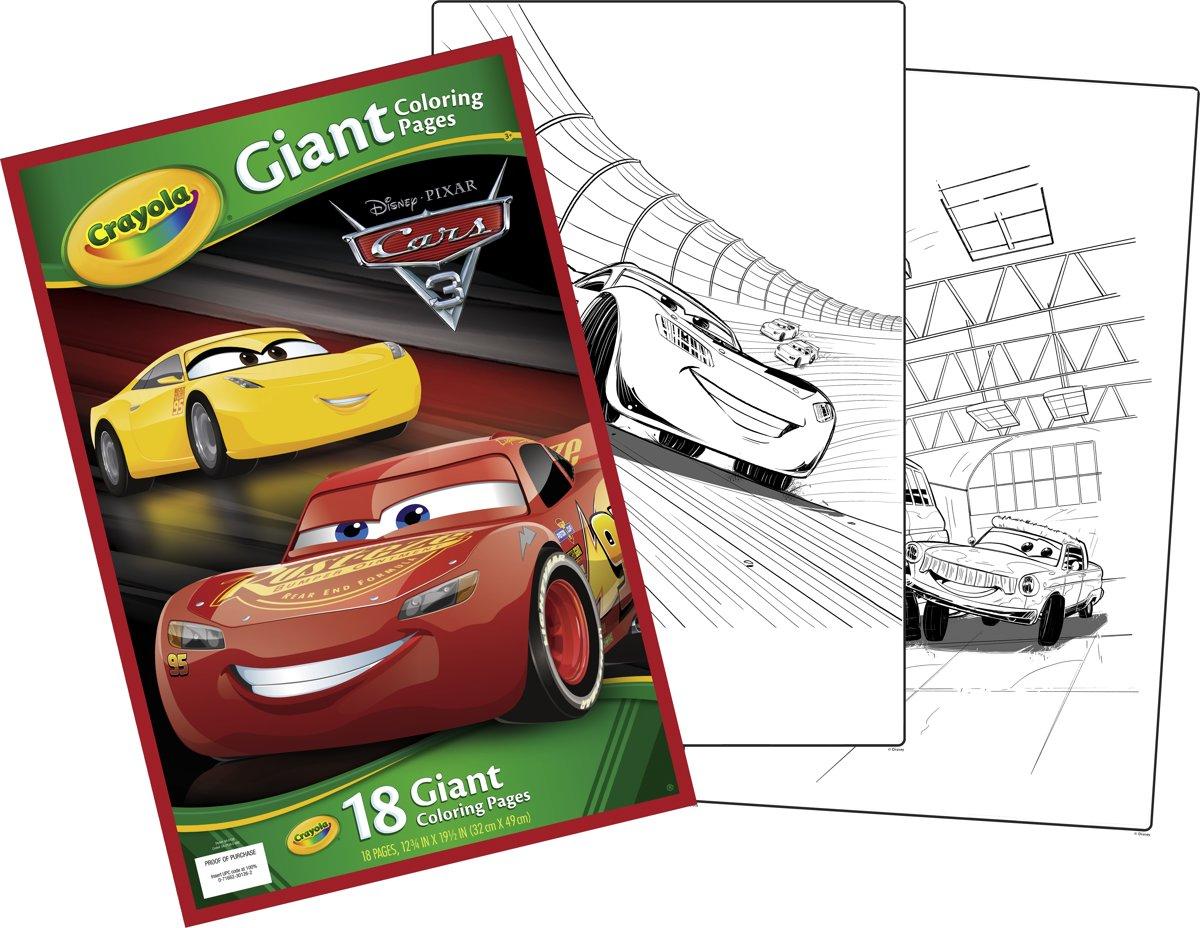 Kleurplaten Van Cars 3.Bol Com Crayola Reuze Kleurplaten Cars 3 Crayola Speelgoed