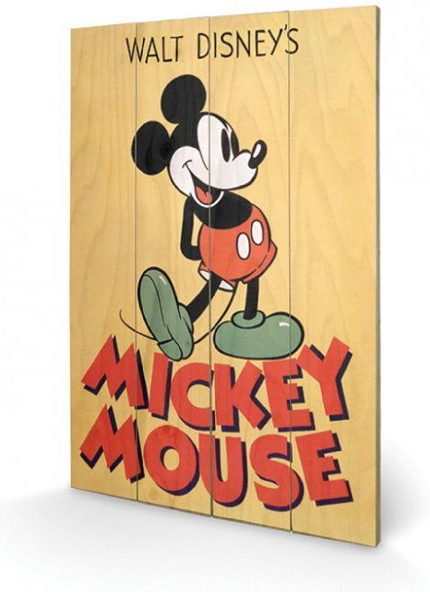 DISNEY - Printing on wood 40X59 - Mickey Mouse Color kopen