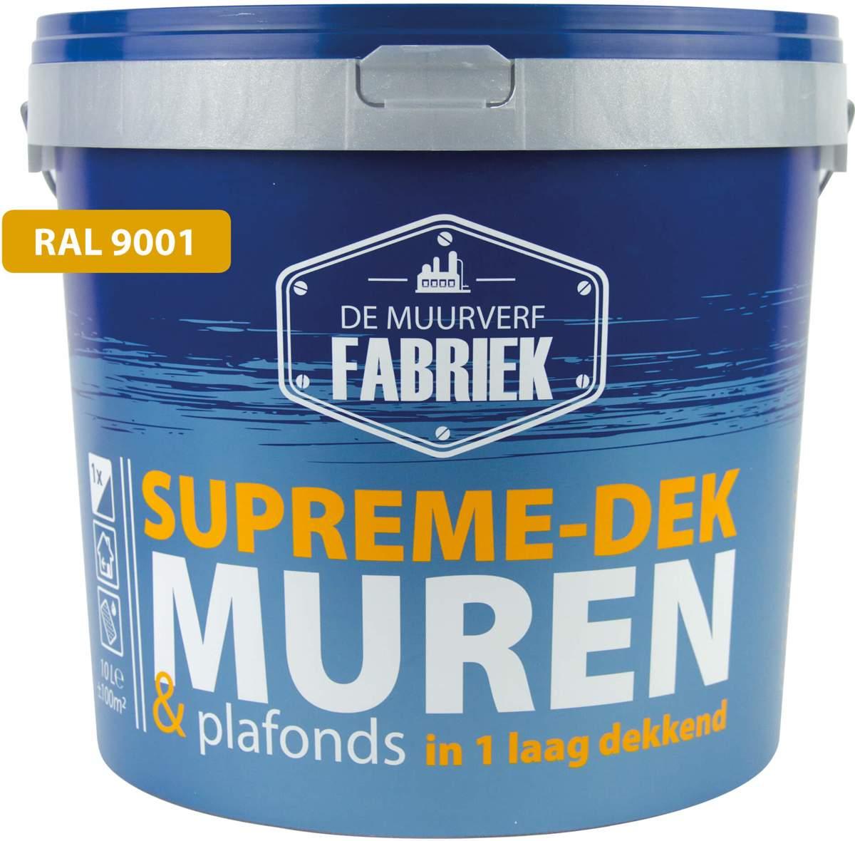 RAL 9001 Muurverf � extra reinigbaar | Supreme-dek Clean | 10 liter