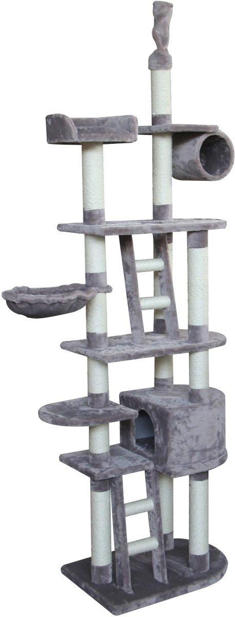 Adori Krabpaal Lotta - Krabpaal - 70x50x227-257 cm Grijs Wit