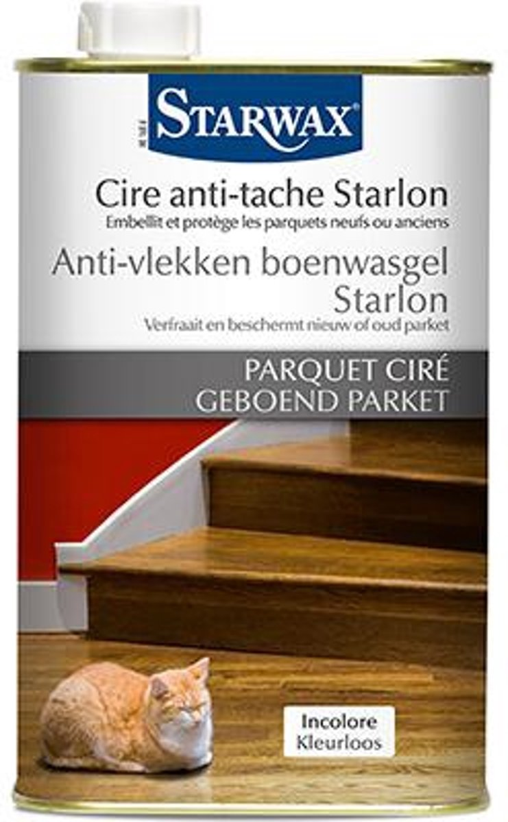 Starwax anti-vlekken boenwasgel Starlon 'Geboend Parket' kleurloos 1 L kopen