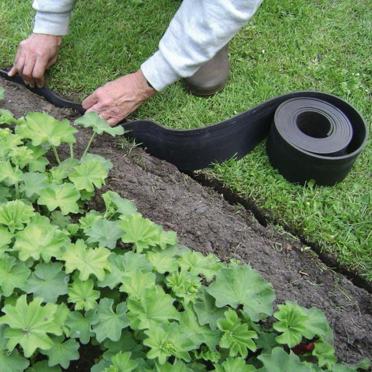 ECO 5 m x 15 cm tuin afboording - set van 8 stuks kopen