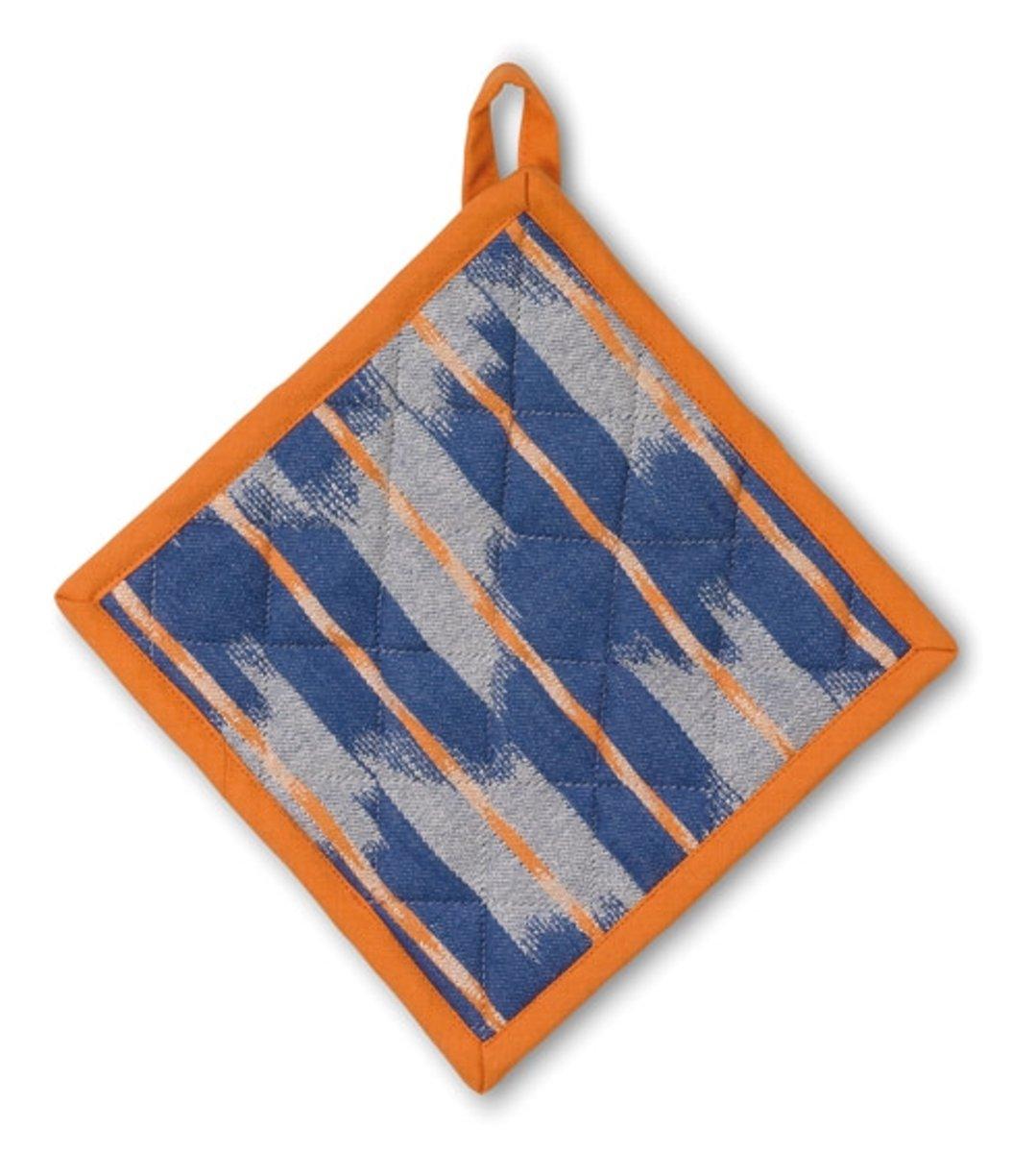Pannenlap, Oranje / Blauw - Kela | Ethno kopen