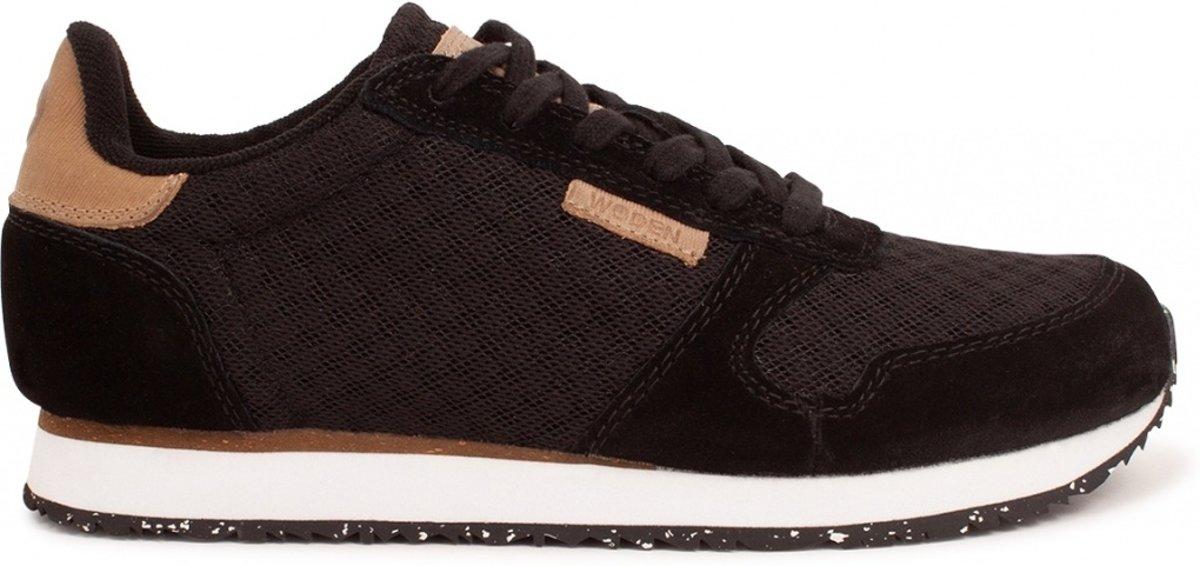 WODEN Dames Sneakers Ydun Suede Mesh Zwart Maat 40