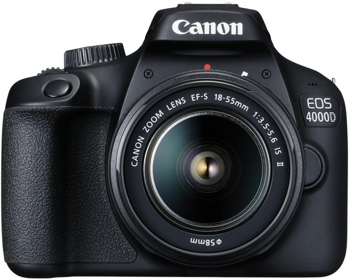 Canon EOS 4000D + 18-55mm DC + 75-300mm DC - Zwart