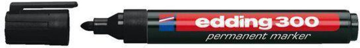 Permanent Marker Edding 300 Rond Zwart