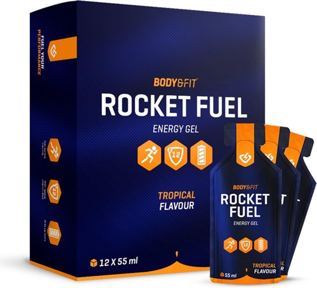 Body & Fit Rocket Fuel - Energiegel - 1 doos (12 gels) - Tropical kopen