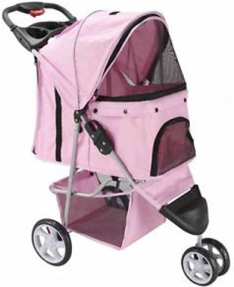 Topmast Hondenbuggy wandelwagen honden buggie Licht Roze + 3 Wielen kopen