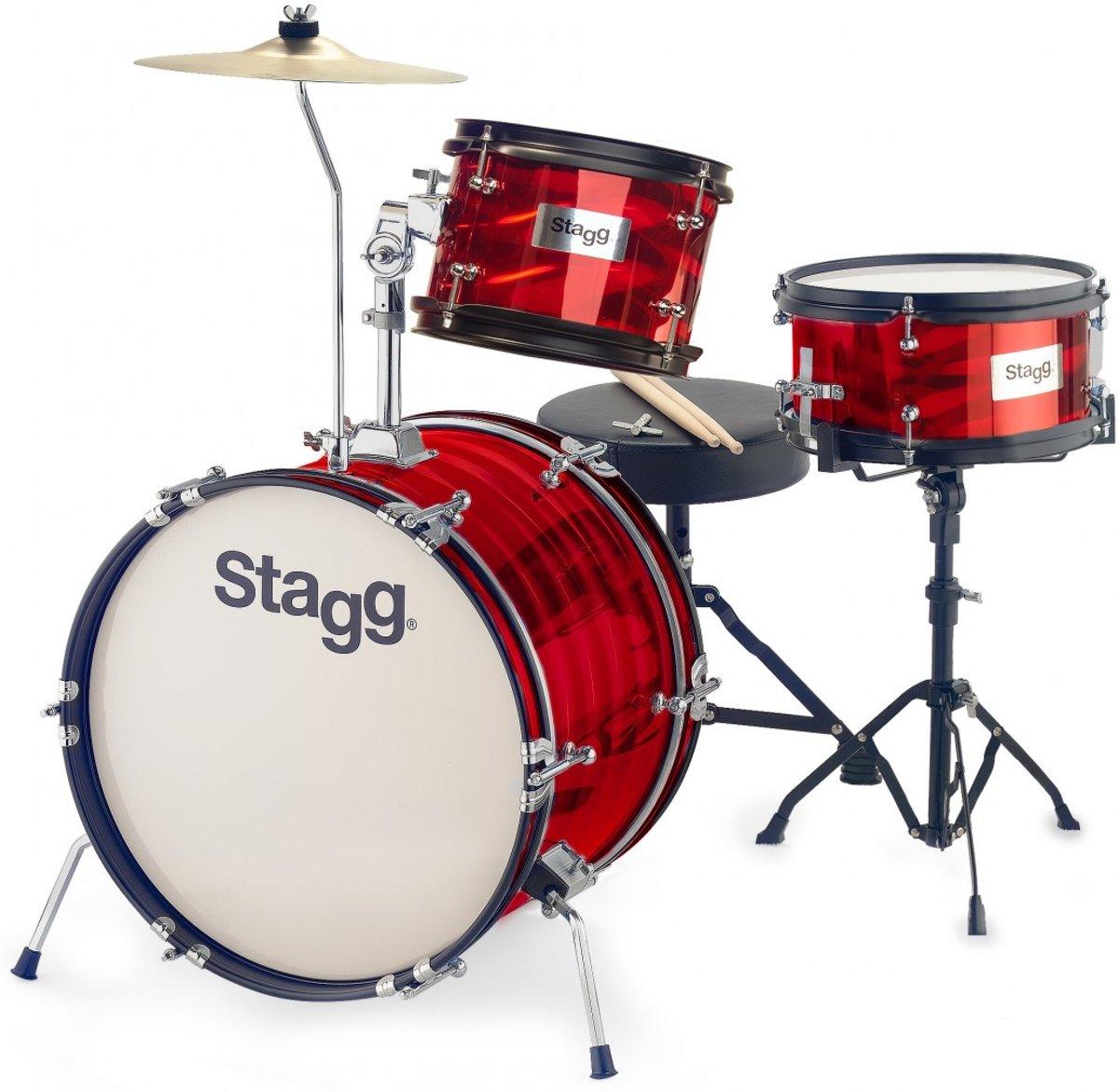 Stagg TIM JR 3/16B RD 3-delig junior drumset 16